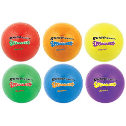 CH Super Squeeze Soccer Ball Set, 8 in Diameter, Assorted Colors, 6/Set
