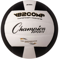 Champion Composite Volleball, Official Size, Black/White