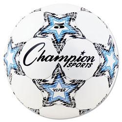 Champion VIPER Soccer Ball, Size 5, 8 1/2 in- 9 in dia., White