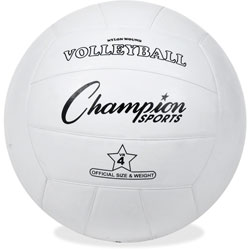 Champion Rubber Sports Ball, For Volleyball, Official Size, White