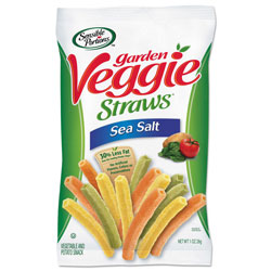 Sensible Portions Veggie Straws, Sea Salt, 1 oz Bag, 8 Bags/Carton