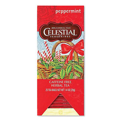 Celestial Seasonings® Tea, Herbal Peppermint, 25/Box