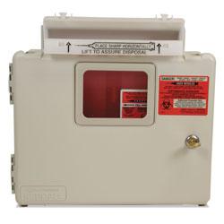 Covidien Locking Wall Mount Sharps Cabinet System, 5 qt, Beige