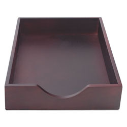 Carver Hardwood Stackable Desk Trays, 1 Section, Legal Size Files, 10.25 in x 15.25 in x 2.5 in, Mahogany