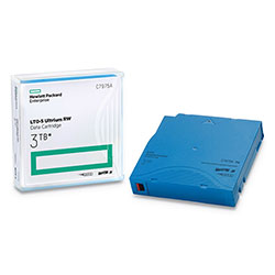 HP 1/2 in Ultrium LTO-5 Cartridge, 2775ft, 1.5TB Native/3TB Compressed Capacity