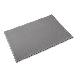 Crown Mats & Matting Ribbed Anti-Fatigue Mat, Vinyl, 36 x 120, Gray
