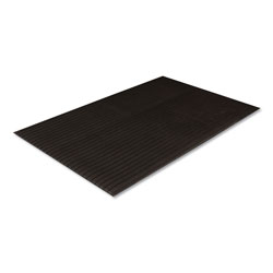 Crown Mats & Matting Ribbed Vinyl Anti-Fatigue Mat, 36 x 60, Black