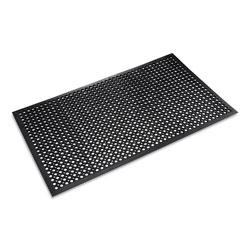 Crown Mats & Matting Safewalk-Light Drainage Safety Mat, Rubber, 36 x 60, Black