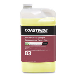 Coastwide Professional™ Wax and Floor Stripper for ExpressMix System, Ultra-Low Odor Soap Scent, 3.25 L Bottle, 2/Carton