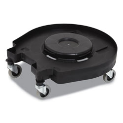 Coastwide Professional™ Click-Connect Waste Receptacle Dolly, Female End, For 32-44 gal Receptacles, 22.25 x 20.3 x 6.6, Black