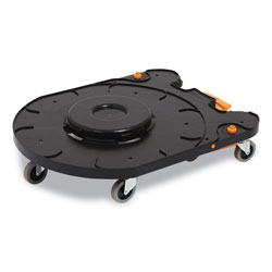 Coastwide Professional™ Click-Connect Waste Receptacle Dolly, Male End, For 32-44 gal Receptacles, 29.8 x 21.9 x 6.6, Black/Orange