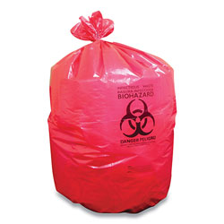 Coastwide Professional™ Biohazard Can Liners, 45 gal, 40 in x 46 in, Red, 200/Carton