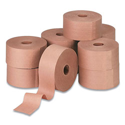 IPG Water-Activated Reinforced Carton Sealing Tape, 3 in Core, 3 in x 150 yds, Natural Kraft, 10/Carton