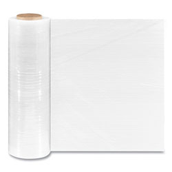 Coastwide Professional™ Extended Core Blown Stretch Wrap, 18 in x 1,500 ft, 79-Gauge, Clear, 4/Carton