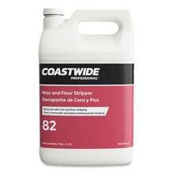 Coastwide Professional™ Wax and Floor Stripper, Ultra-Low Odor Soap Scent, 1 gal Bottle, 4/Carton