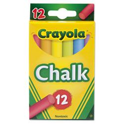 Crayola Chalk, 6 Assorted Colors, 12 Sticks/Box