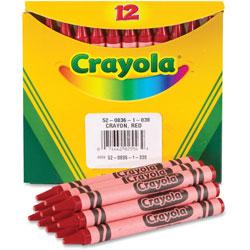 Crayola Bulk Crayons, 12/BX, Red