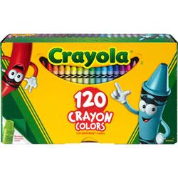 Crayola Classic Color Crayons, Tuck Box, 120 Colors