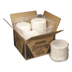 Crayola Air-Dry Clay, White, 25lb Box