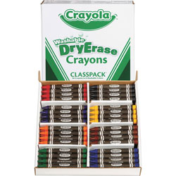 Crayola Dry-Erase Crayons Classpack, Washable, 96 Ct, Ast