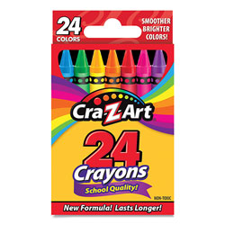 Cra-Z-Art® School Quality Crayon, Assorted Colors, 24/Box