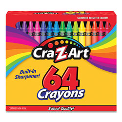 Cra-Z-Art® Crayons, 64 Assorted Colors, 64/Pack