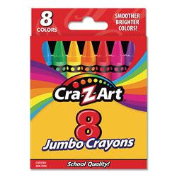 Cra-Z-Art® Jumbo Crayons, 8 Assorted Colors, 8/Pack