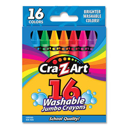 Cra-Z-Art® Washable Jumbo Crayons, 16 Assorted Colors, 16/Pack