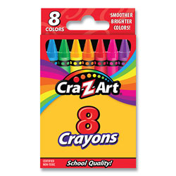 Cra-Z-Art® Crayons, 8 Assorted Colors, 8/Pack
