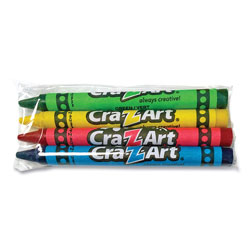Cra-Z-Art® Washable Crayons, Assorted, 4/Pack