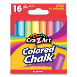Cra-Z-Art® Colored Chalk, Assorted Colors, 16/Pack