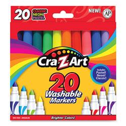 Cra-Z-Art® Washable Markers, Broad Bullet Tip, 20 Assorted Colors, 20/Set