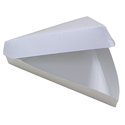 Pactiv 18/6 Plain Pizza Slice Clamshell, 10.9 x 9.93 x 1.62 in
