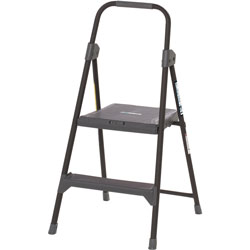 Louisville Ladder 2-Step Domestic Stool, 2', 225lb Cap, 19 in x 3-1/2 in x 40 in, GY