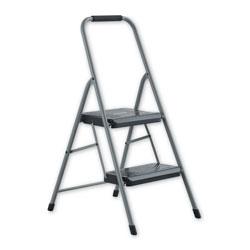 Louisville Ladder Black and Decker Steel Step Stool, 2-Step, 200 lb Capacity, Gray