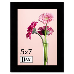 Dax Solid Wood Photo/Picture Frame, Easel Back, 5 x 7, Black