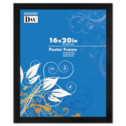 Dax Black Solid Wood Poster Frames w/Plastic Window, Wide Profile, 16 x 20