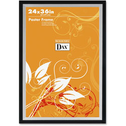 Dax Metro Series Poster Frame, Solid Wood, 24 x 36, Black/Silver