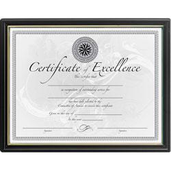 Dax Certificate Frame, 8 1/2 in x 11 in, Black