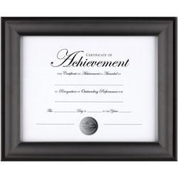 Dax Document Frame, W/ Certificate, 13-3/5 inWx9/10 inLx11 inH, Black