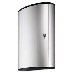 Durable Locking Key Cabinet, 72-Key, Brushed Aluminum, 11 3/4 x 4 5/8 x 15 3/4
