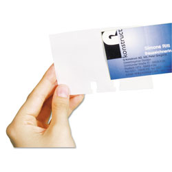 Durable VISIFIX Double-Sided Business Card Sleeves, 40/Pack