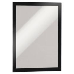 Durable DURAFRAME Sign Holder, 8 1/2 x 11, Black Frame, 2 per Pack