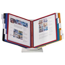 Durable VARIO Pro Desktop Reference System, 10 Panels, Legal, Assorted Borders & Panels