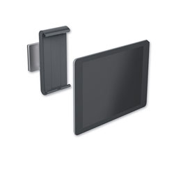 Durable Office Products Corporation Wall-Mounted Tablet Holder, Silver/Charcoal Gray