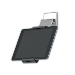 Durable Office Products Corporation Mountable Tablet Holder, Silver/Charcoal Gray