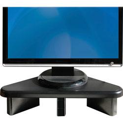 Data Accessories Corp Corner Monitor Stand, Adjust, 12-3/4 in x 20-1/4 in x 2-3/64 in, Black
