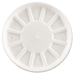 Dart Vented Foam Lids, Fits 6-32oz Cups, White, 500/Carton