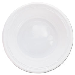 Dart Plastic Bowls, 5-6 Ounces, White, Round, 125/Pack