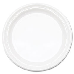 Dart Famous Service Plastic Dinnerware, Plate, 6 in dia, WE, 125/Pack, 8 Packs/Carton